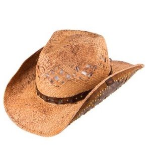 "Peter Grimm tan ""Clay"" cowboy hat"